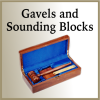 Click this Image to visit the Gavel and Sounding Blocks category.