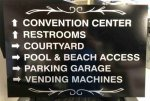 Directional Aluminum MM Sign - Brushed Silver ALUMINUM SIGNS
