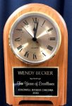 Walnut Arch Desk Clock Arch Awards