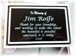 Dedication Cast Aluminum Plaque with 24 Stake  ( OutDoors ) Cast Relief Awards