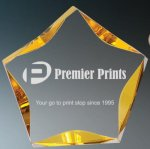 Gold Luminary Star Acrylic COLORED ACRYLIC AWARDS