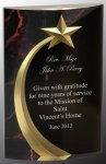 Red Marble Rounded Shooting Star Acrylic COLORED ACRYLIC AWARDS