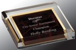Acrylic Paper Weight COLORED ACRYLIC AWARDS