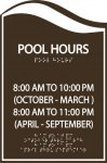 Pool Hoursl COMPLIANT SIGNS