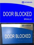 Door Blocked COMPLIANT SIGNS