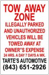 Tow Away Zone COMPLIANT SIGNS