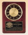 Rosewood Piano Finish Vertical Wall Clock CORPORATE PLAQUES