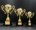 CTDC Cup Series  with Figure on Sculpted Round Black Base CUP TROPHIES
