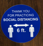 Thank You for Social Distancing Decals