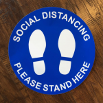 Social Distance - Please Stand Here Decal Decals