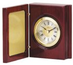 Book Clock With Hinged Cover Desk Clocks