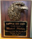 Cherry Finish Plaque with Eagle #CEP810EG Eagle Awards