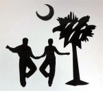 Vinyl Shagger With Palm & Moon Decal in Black Everything SHAG