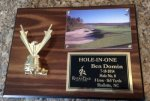 Hole in One Golf Plaque Holds Photo Golf Gift Items