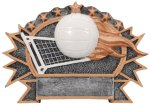 Resin Plate - Volleyball  Misc. Resin Trophy Awards