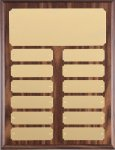 Walnut Finish Perpetual Plaque - #954WB Monthly Perpetual Plaques