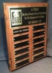 Cherry Finish Perpetual Plaque #312BG Monthly Perpetual Plaques