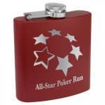 Maroon Powder Coated Stainless Steel Flask  Personalized Gifts
