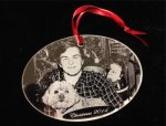 Laser Engraved Acrylic Pet Photo Ornament Pet Tags, Photos, and Memorials