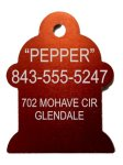 Anodized Aluminum Fire Hydrant Dog Tag Pet Tags, Photos, and Memorials