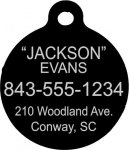 Anodized Aluminum Dog Tag Pet Tags, Photos, and Memorials