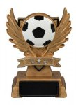 Victory Wing Resin Figure -Soccer  Scholastic Trophy Awards