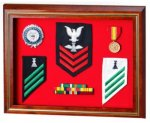 Solid Cherry Flag Case / Shadow Box Shadow Boxes
