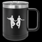 Black Stainless Steel Shag Coffee Mug Shag Coffee Mugs
