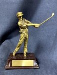 Driver, Male with Burgundy Base Signature Gold Resin Trophy Awards